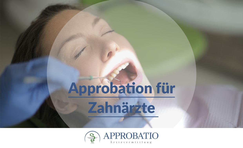 Approbation Zahnarzt