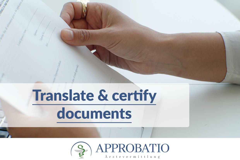 Translate & certify documents